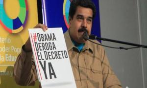 VENEZUELA--Maduro-llam--a-un---8220-tuitazo-mundial--8221--contra-Obama----8220-A-Venezuela-no-la-toca-nadie--8221-