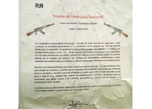 Documento di rivendicazione dell'attentato